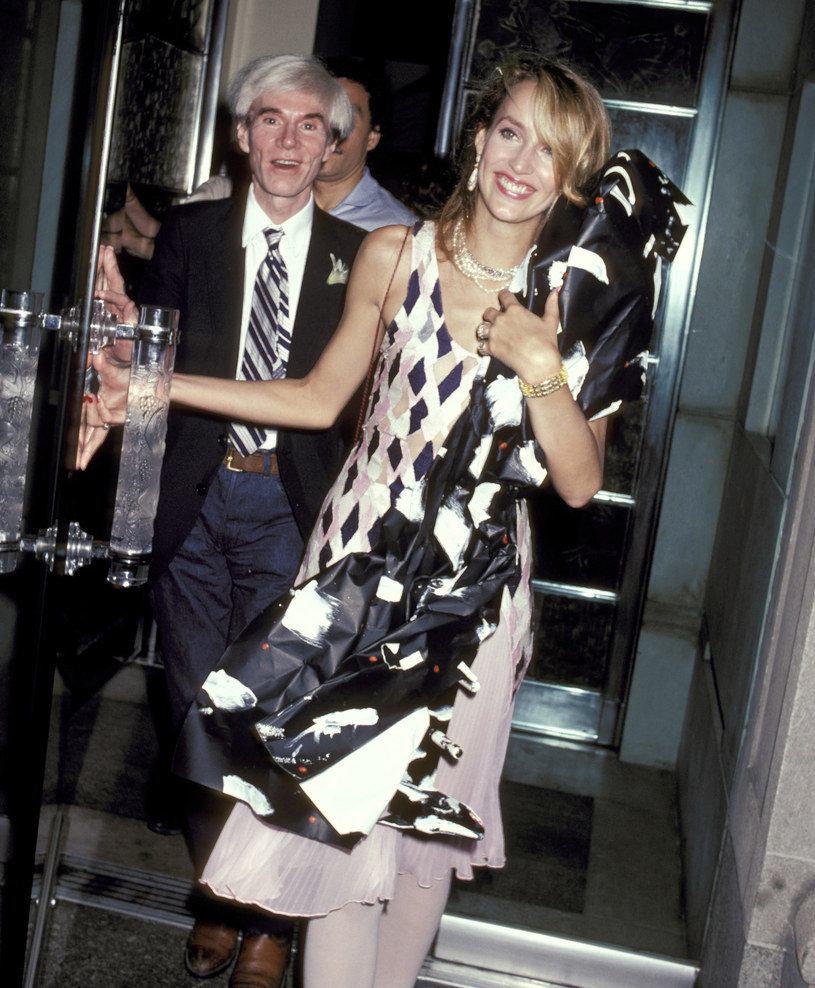 Andy Warhol i Jerry Hall, fot. Ron Galella /Getty Images