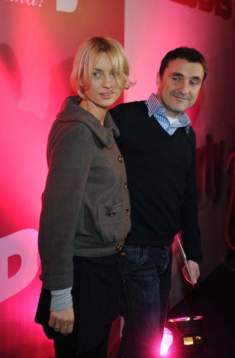 Aneta Kręglicka z mężem Maciejem /Andras Szilagyi /MWMedia
