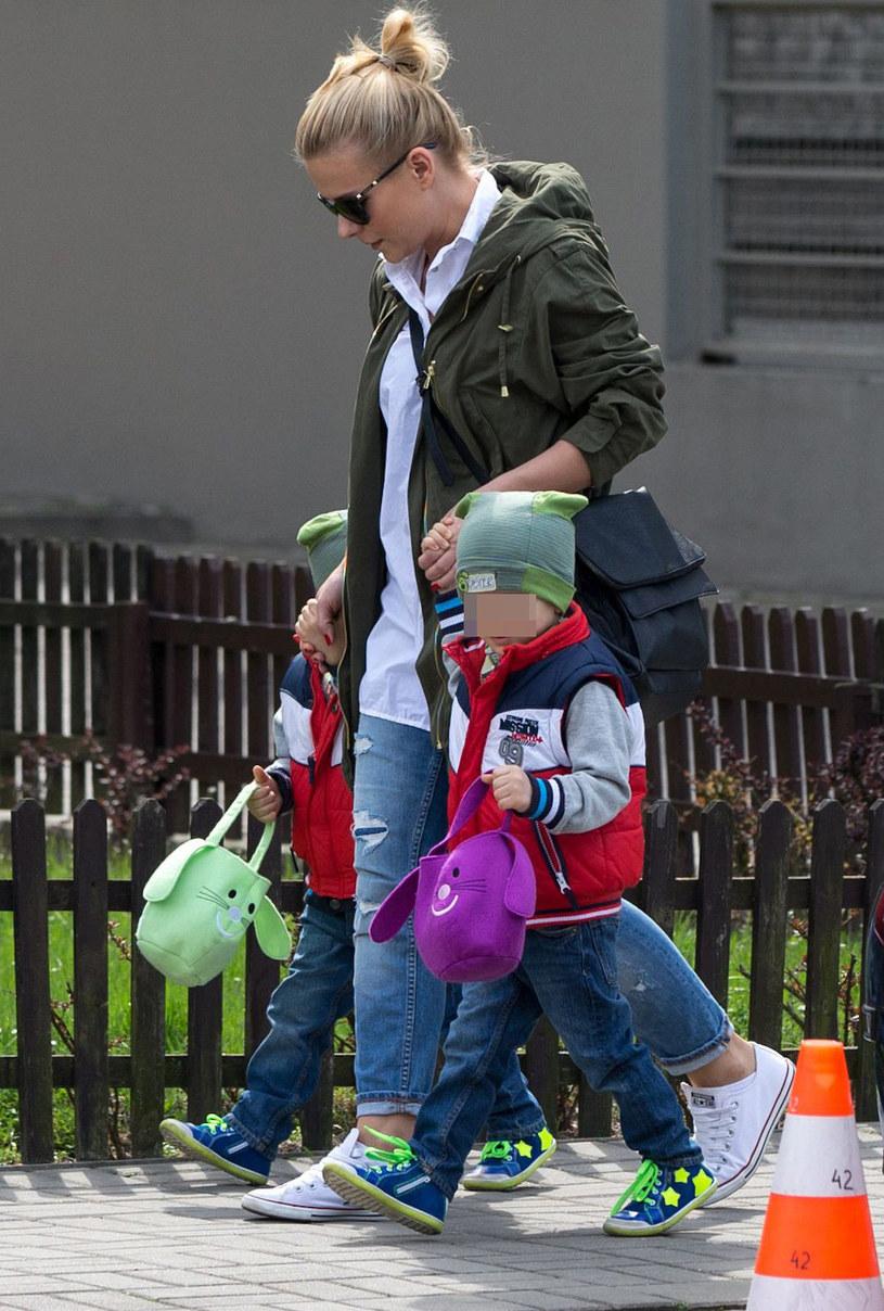 Aneta Zając z synami /Foto IP