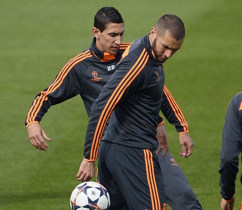 Angel Di Maria (przed nim Karim Benzema) jeszcze wczoraj szykował się do gry /AFP