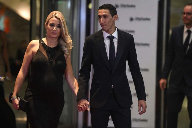 Angel Di Maria z żoną /AFP