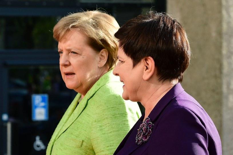 Angela Merkel i Beata Szydło podczas kwietniowego spotkania /AFP