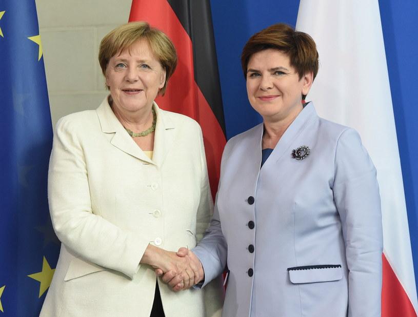 Angela Merkel i Beata Szydło /Radek Pietruszka /PAP