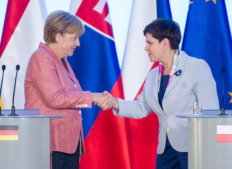 Angela Merkel i Beata Szydło /Bartosz Krupa /East News