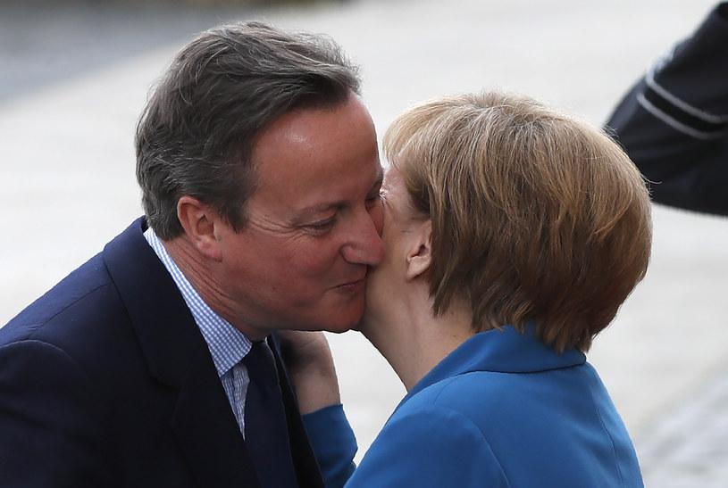 Angela Merkel i David Cameron /AFP