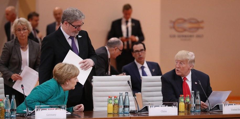 Angela Merkel i Donald Trump na szczycie G20 /PAP/EPA/SEAN GALLUP / POOL /PAP/EPA