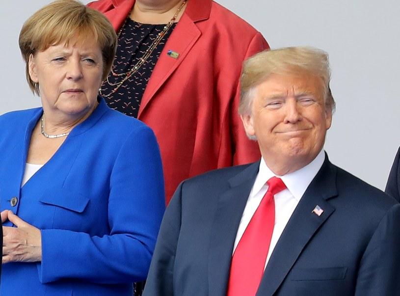 Angela Merkel i Donald Trump podczas szczytu NATO /AFP