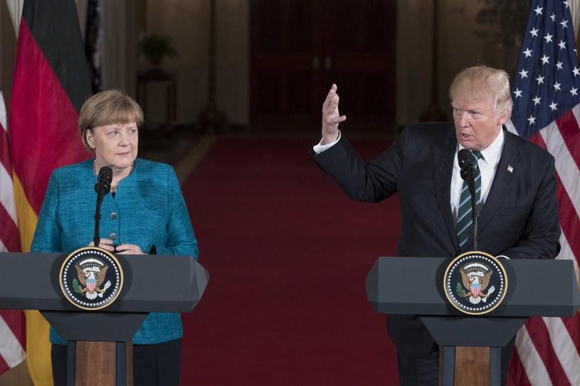 Angela Merkel i Donald Trump /PAP/EPA
