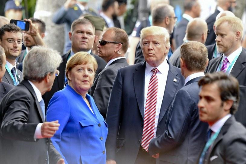 Angela Merkel i Donald Trump /CIRO FUSCO /PAP/EPA