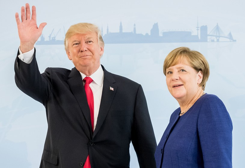 Angela Merkel i Donald Trump /AFP