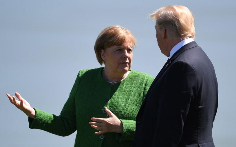 Angela Merkel i Donald Trump /NEIL HALL / POOL /PAP/EPA