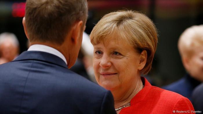 Angela Merkel i Donald Tusk, fot. Reuters/G. Fuentes /