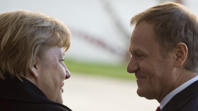 Angela Merkel i Donald Tusk /AFP