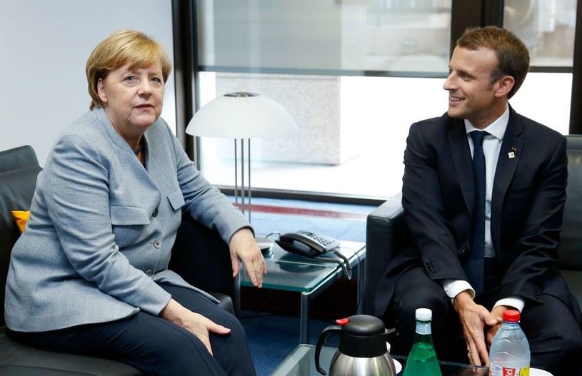 Angela Merkel i Emmanuel Macron /AFP