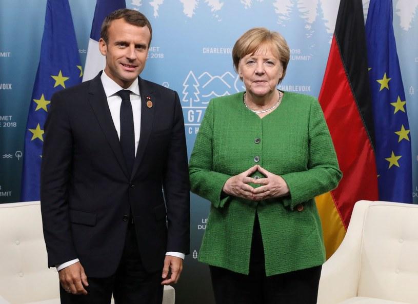 Angela Merkel i Emmanuel Macron /LUDOVIC MARIN /AFP