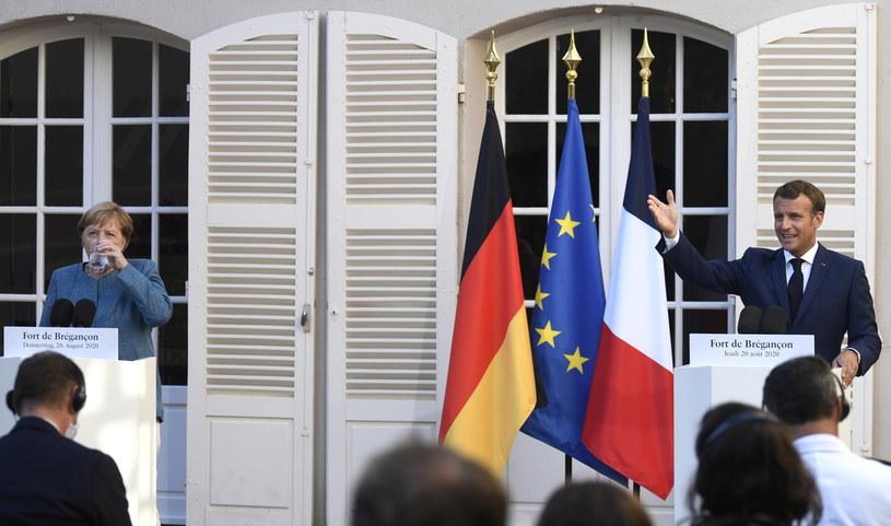 Angela Merkel i Emmanuel Macron /CHRISTOPHE SIMON /PAP