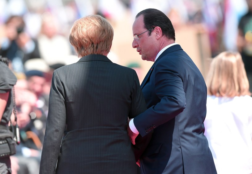 Angela Merkel i Francois Hollande /AFP
