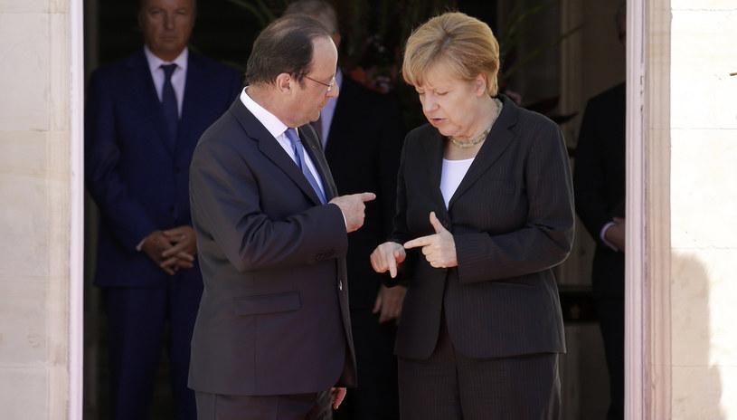 Angela Merkel i Francois Hollande /AFP