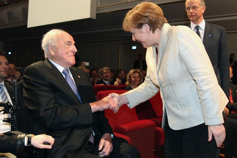 Angela Merkel i Helmut Kohl /AFP
