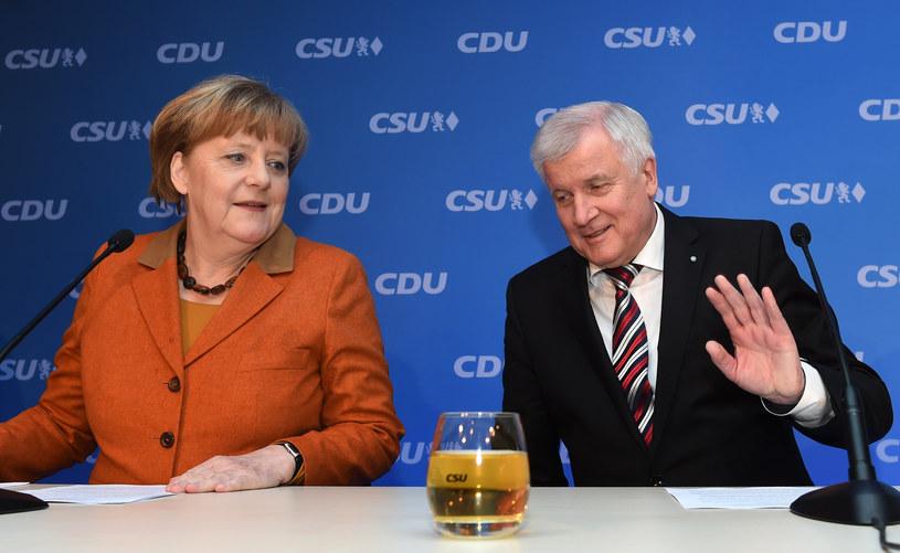 Angela Merkel i Horst Seehofer /AFP