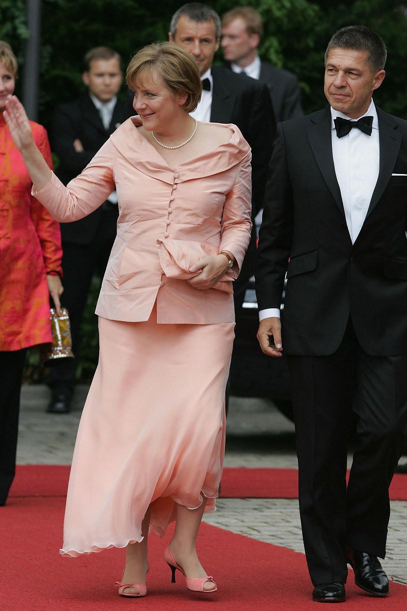 Angela Merkel i Joachim Sauer. Kanclerz Niemiec w towarzystwie małżonka podczas premiery spektaklu /Getty Images