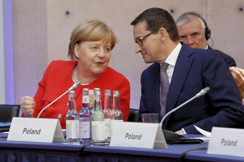 Angela Merkel i Mateusz Morawiecki w Berlinie /Adam Guz /PAP