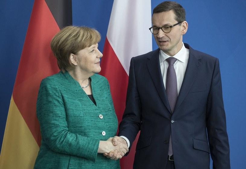 Angela Merkel i Mateusz Morawiecki /PAP/EPA