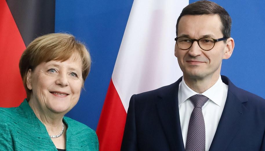 Angela Merkel i Mateusz Morawiecki /Paweł Supernak /PAP