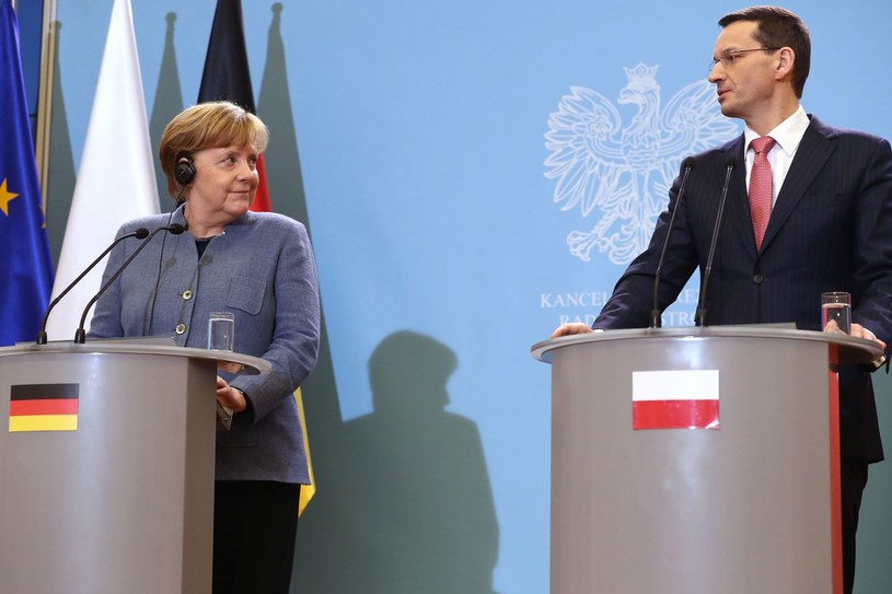 Angela Merkel i Mateusz Morawiecki /AFP