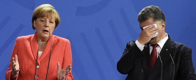 Angela Merkel i Petro Poroszenko /AFP