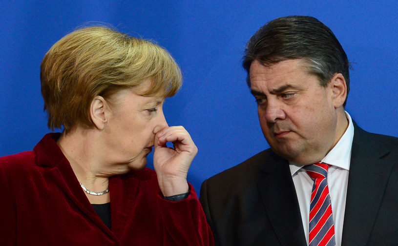 Angela Merkel i Sigmar Gabriel /AFP