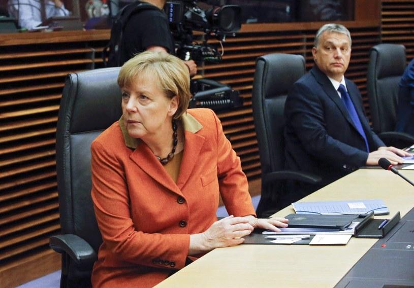 Angela Merkel i Viktor Orban /PAP/EPA