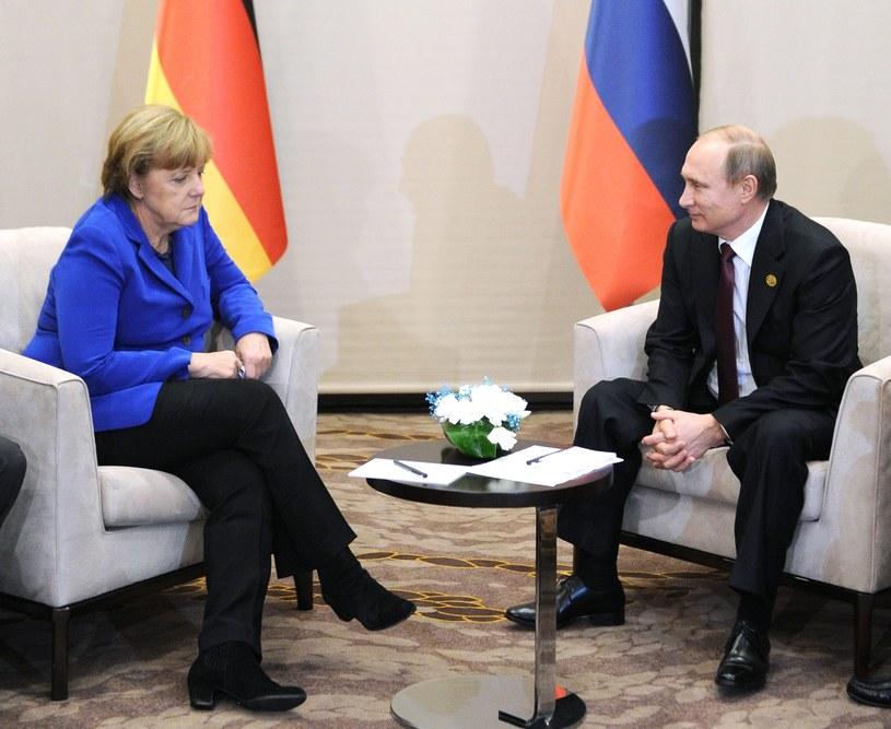 Angela Merkel i Władimir Putin podczas szczytu G20, fot. 2015 /AFP