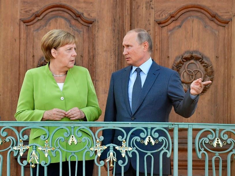 Angela Merkel i Władimir Putin, zdj. archiwalne /AFP