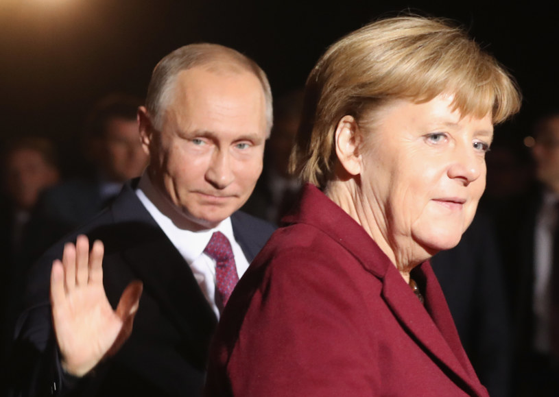 Angela Merkel i Władimir Putin /Sean Gallup /Getty Images