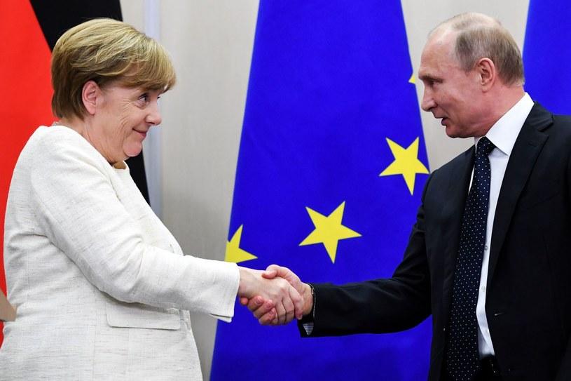 Angela Merkel i Władimir Putin /AFP