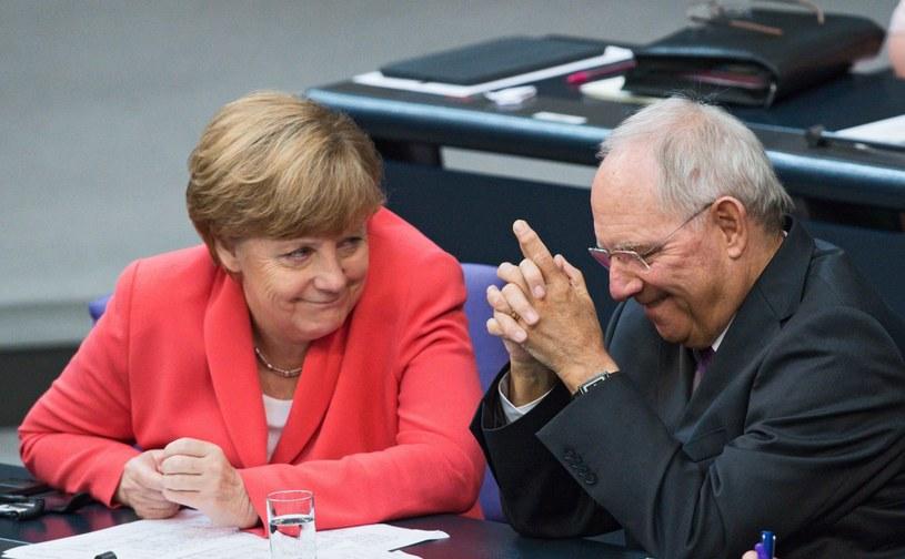 Angela Merkel i Wolfgang Schaeuble /BERND VON JUTRCZENKA /PAP/EPA