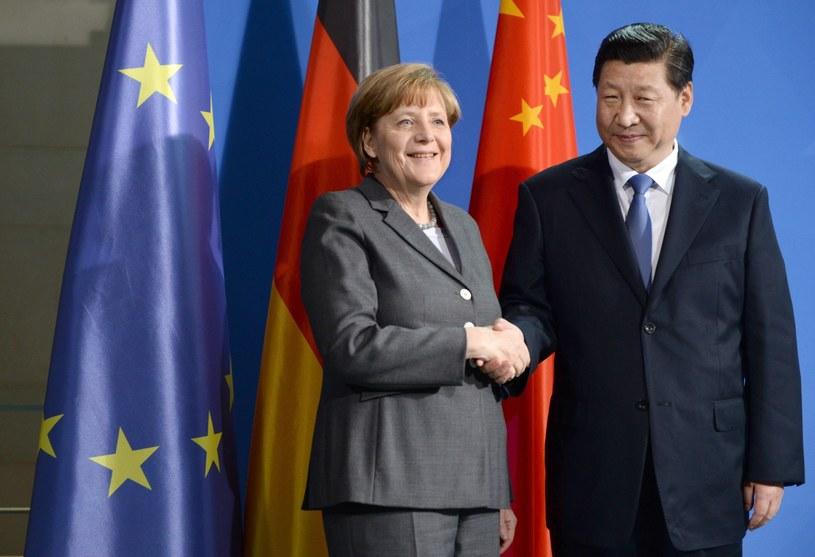 Angela Merkel i Xi Jinping /PAP/EPA