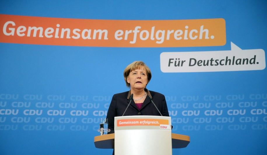 Angela Merkel po raz trzeci będzie kanclerzem Niemiec /Kay Nietfeld  /PAP/EPA