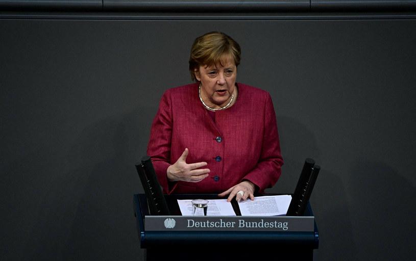 Angela Merkel przemawia przed Bundestagiem /TOBIAS SCHWARZ/AFP/East News /East News