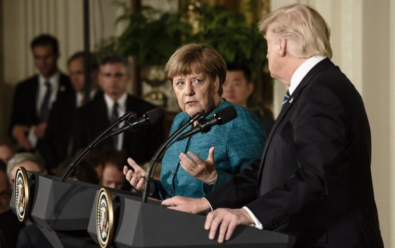 Angela Merkel spotkała się z Donaldem Trumpem /PAP/EPA