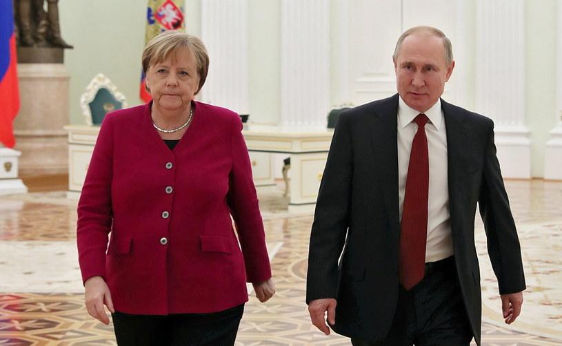 Angela Merkel spotkała się z Władimirem Putinem /MIKHAIL KLIMENTYEV / SPUTNIK / /PAP