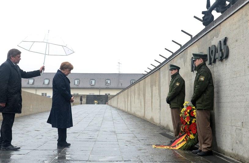 Angela Merkel w Dachau /PAP/EPA