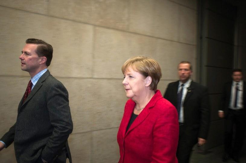 Angela Merkel w drodze na wywiad w telewizji ZDF /BASTIAN FISCHER  /PAP/EPA