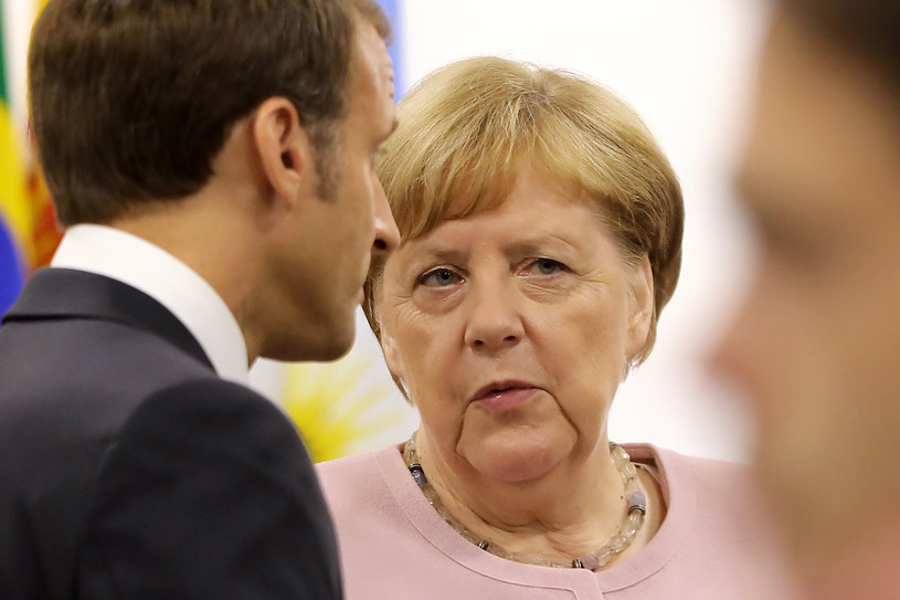Angela Merkel w Osace /Dominique JACOVIDES /AFP
