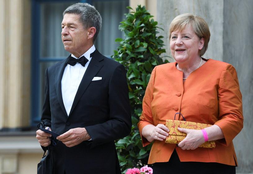 Angela Merkel z mężem /Andreas Gebert /Agencja FORUM