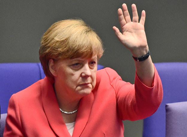 Angela Merkel zażądała kontynuowania rozmów pokojowych z Kurdami fot. John Macdougall /AFP