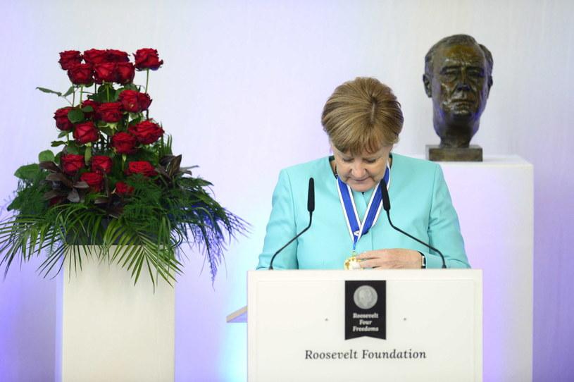 Angela Merkel /REMKO DE WAAL /PAP/EPA