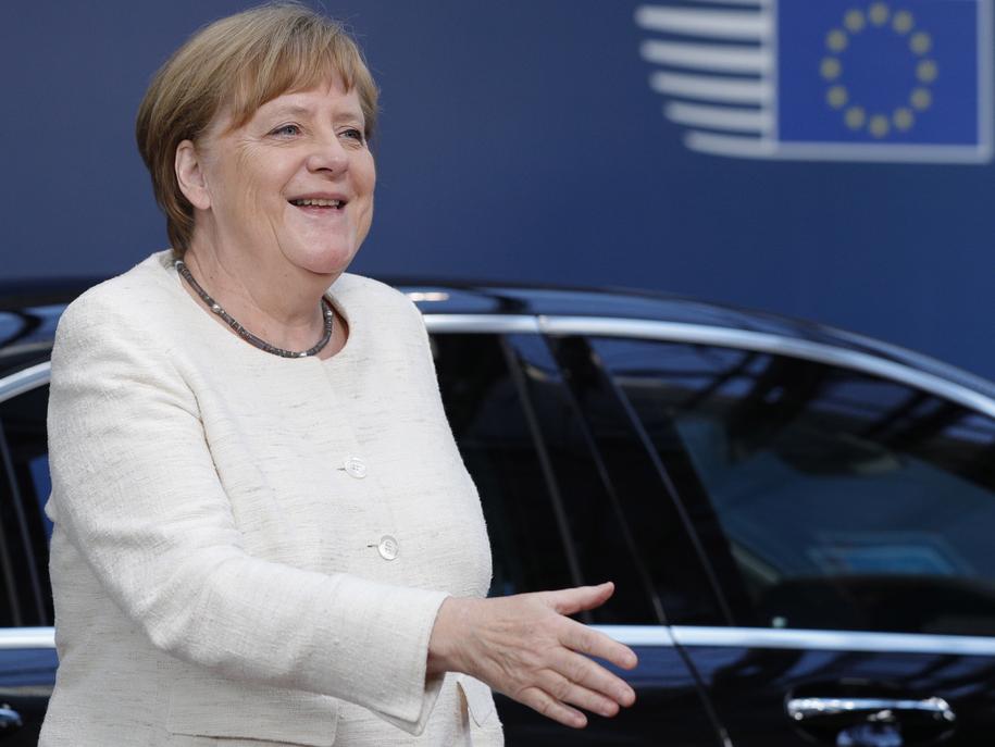 Angela Merkel /GEOFFROY VAN DER HASSELT / POOL / AFP /PAP/EPA