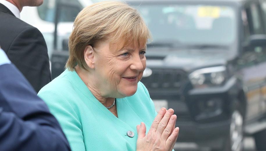 Angela Merkel /RAJAT GUPTA    /PAP/EPA